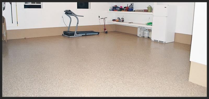 Epoxy Flake Garage Flooring