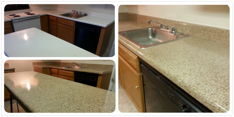 River Road Terrace Apartment Counter Resurface