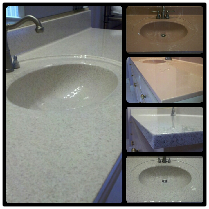 Vanity Resurface in High Gloss Fieldstone