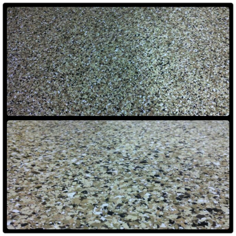 Garage Chip Flake Floor